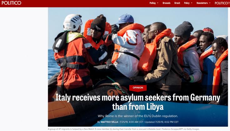 POLITICO noticia inmigración Italia