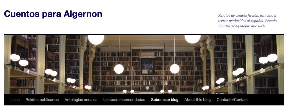 cuentos para Algernon web