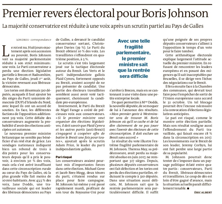 UE Brexit y Boris UK Monde