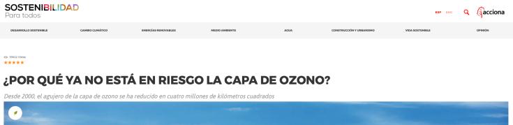 no riesgo capa de ozono acciona