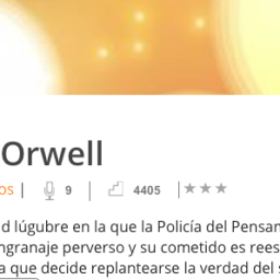 Podcast lectura 1984 – G. Orwell