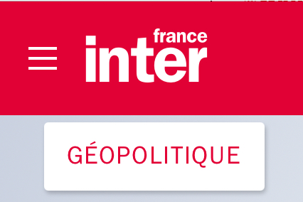 France inter geopolitique
