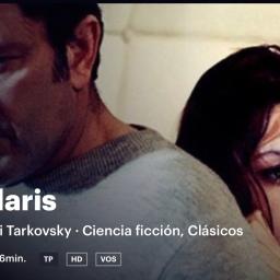 Upd. 15nov. Solaris. Film. 1972 mr Tarkovski. peli de culto Cf
